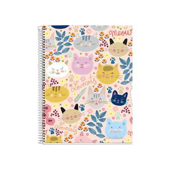 Caderno Pautado Miquelrius - Meow, A4