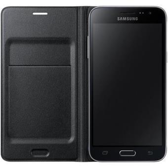 Samsung Capa Flip Wallet para Galaxy J3 2016 (Preto)