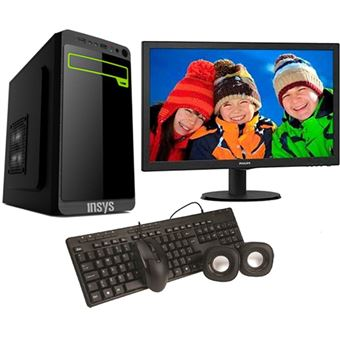 Desktop Insys PowerNet | Celeron J1800 | 4GB + Monitor Philips 21,5''