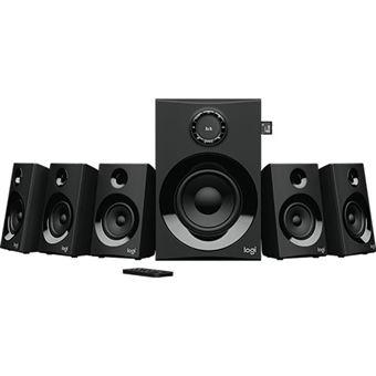 Sistema de Som Logitech Z607 5.1 Surround - Preto