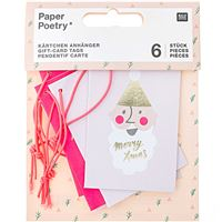 Pack de Mini Cartões de Natal - Pastel Christmas - 6 Unidades
