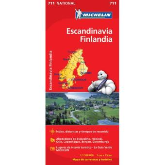 Mapa Michelin Nacional 711 - Escandinávia, Finlândia