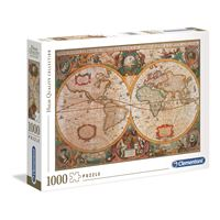 Puzzle Mapa Antigo - 1000 Peças - Clementoni