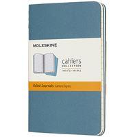 Caderno de Bolso Pautado Cahier Moleskine - Azul Brisk