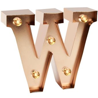Luz Decorativa LED Mini - Letra W
