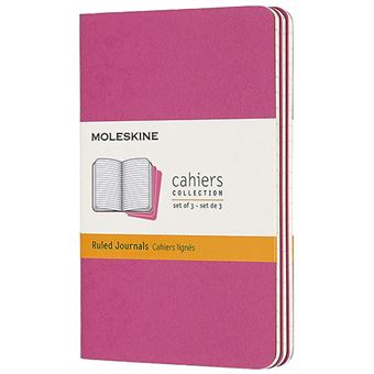 Caderno de Bolso Cahier Pautado Moleskine - Rosa Kinetic