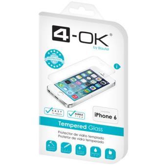 4-OK Película Ecrã Vidro Temperado para iPhone 6