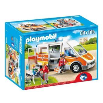 Playmobil City Life 6685 Ambulância com Luzes e Som