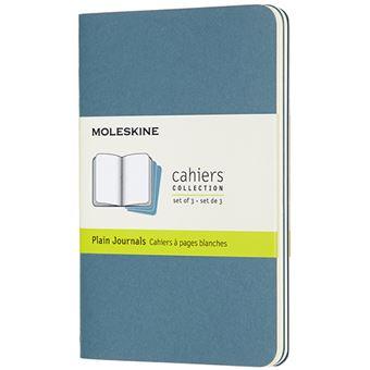 Caderno de Bolso Liso Cahier Moleskine - Azul Brisk