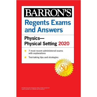 Regents Exams and Answers: Physics-Physical Setting 2020 ...