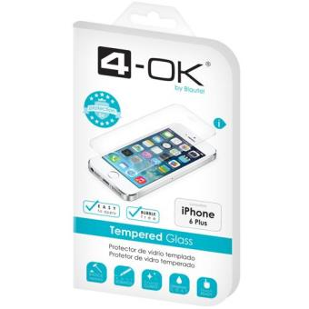4-OK Película Ecrã Vidro Temperado para iPhone 6 Plus
