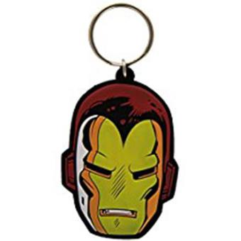 Keyring Rubber-Iron Man-Face
