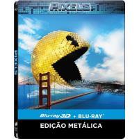 Pixels (Blu-ray 3D + 2D) - Caixa Metálica
