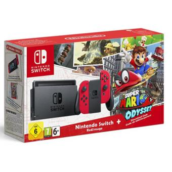 Consola Nintendo Switch Red + Super Mario Odyssey