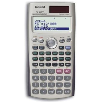 Casio FC-200V Bolso Calculadora financeira calculadora