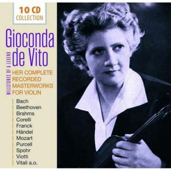 Gioconda De Vito - Her Complete Recorded Masterworks For Violin - 10CD