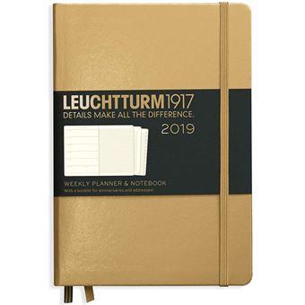 Agenda Semanal 2019 Leuchtturm Notebook A5 Dourado