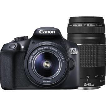 Canon EOS 1300D + EF-S 18-55mm f/3.5-5.6 DC III + EF 75-300mm f/4-5.6 III