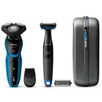 Máquina de Barbear Philips S5050/64 - Preto   Azul