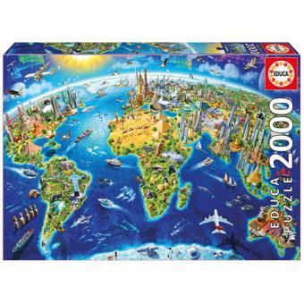 Puzzle Símbolos do Mundo - 2000 Peças - Educa