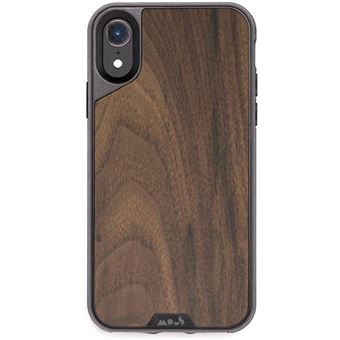 Capa Mous Limitless 2.0 para iPhone XR - Walnut