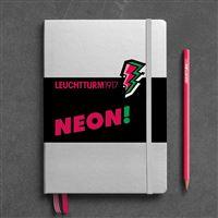 Caderno Pontilhado Leuchtturm A5 - Rosa Neon