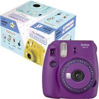 Pack Fujifilm instax mini 9 MR. Wonderful - Púrpura - Clear Edition