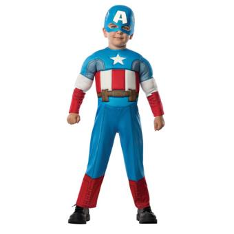 Disfarce Capitão América - Tamanho T 1 a 2 Anos