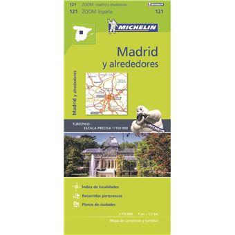 Mapa Michelin Zoom 121 - Espanha: Madrid y Alrededores