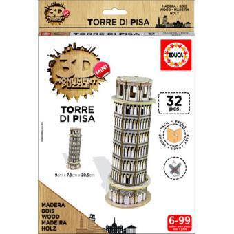 Puzzle 3D Mini Monument Torre di Pisa - Educa