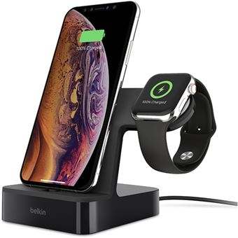 Base de Carregamento Belkin PowerHouse para Apple iPhone e Apple Watch - Preto