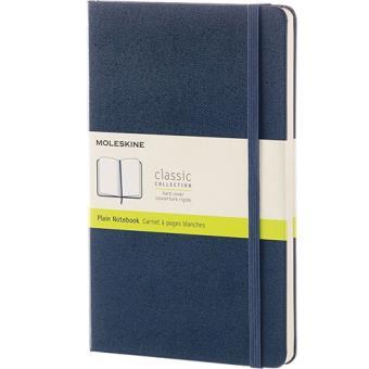 Caderno Liso Moleskine Grande Azul Escuro