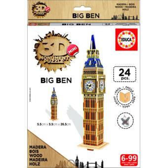 Puzzle 3D Mini Monument Big Ben - Educa