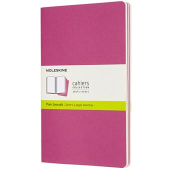 Caderno Liso Cahier Moleskine Grande Set de 3 - Rosa Kinetic