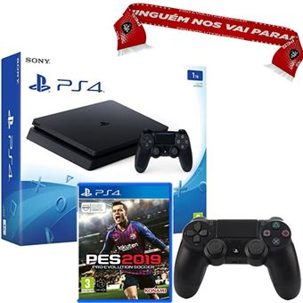 Consola Sony PS4 Slim 500GB - Preto + Fortnite: Deep Freeze Bundle PS4 + Vale 10€