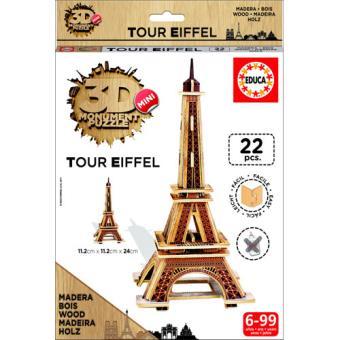 Puzzle 3D Mini Monument Tour Eiffel - Educa