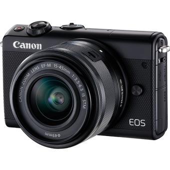 Canon EOS M100 - Preto + EF-M 15-45mm f/3.5-6.3 IS STM Preto