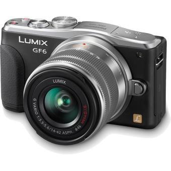 Panasonic Lumix DMC-GF6KEC + G VARIO 14-42mm f/3.5-5.6 Mega O.I.S (Prateada)