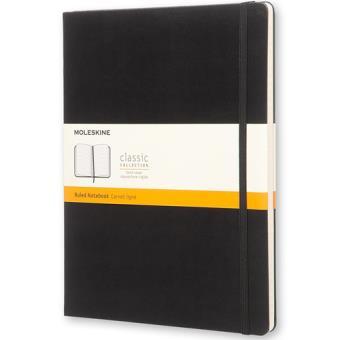 Caderno Pautado Moleskine XL Preto