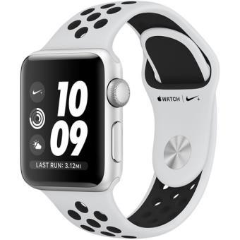 Apple Watch Nike+ Series 3 38mm - Prateado | Bracelete Desportiva Nike - Platina-Pura | Preto