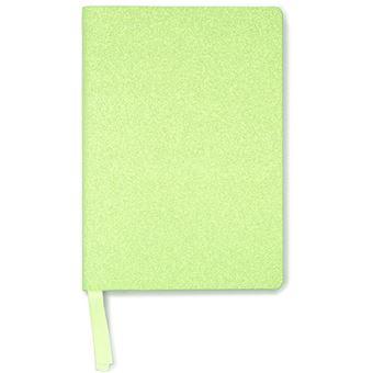 Notebook A5 Bright Neon Green Glitter - Go Stationery
