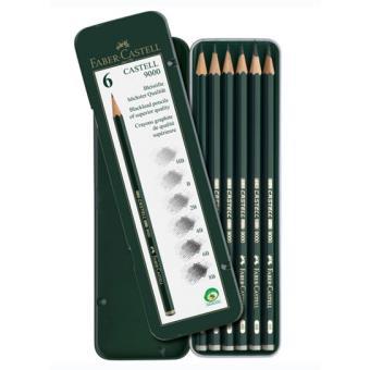 Lápis de Grafite Faber-Castell 9000 - 6 Unidades