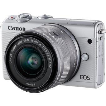 Canon EOS M100 - Branco + EF-M 15-45mm f/3.5-6.3 IS STM Cinzento