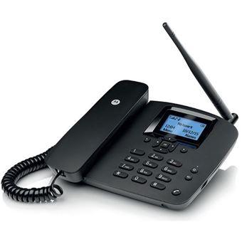 Telefone Fixo GSM Motorola FW200L - Preto