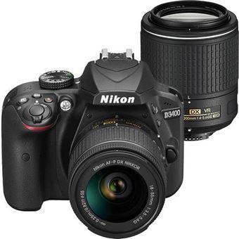 Nikon D3400 + AF-P DX 18-55mm f/3.5-5.6G + F-S DX NIKKOR 55-200mm f/4-5.6G ED VR II