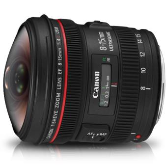 Canon Objetiva EF 8-15mm f/4L Fisheye USM