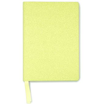 Notebook A5 Bright Neon Yellow Glitter - Go Stationery