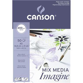 Bloco de Desenho Canson Imagine A5 200g