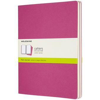 Caderno Liso Cahier Moleskine XL Set de 3 - Rosa Kinetic