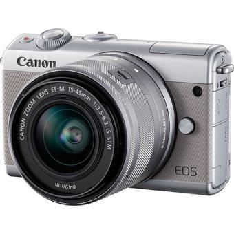 Canon EOS M100 - Cinzento + EF-M 15-45mm f/3.5-6.3 IS STM Cinzento
